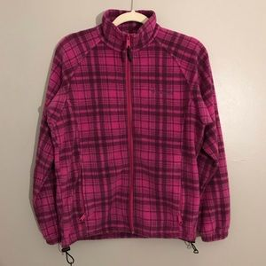 Columbia Plaid zip up jacket
